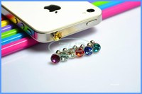 crystal diamond dustproof anti dust plug cap for 3.5 MM headphone earphone jack