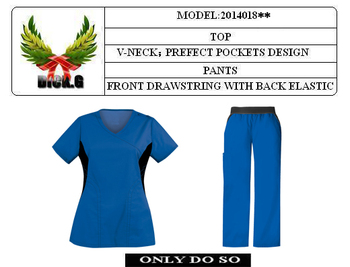 OEM-2014018** scrub suit / nursing scrub / nurse scrub suit design