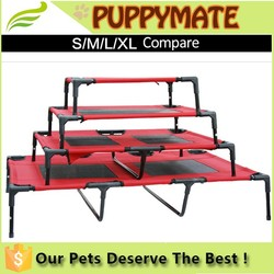 Manufacturer wholesale steel frame elevated dog beds for S/M/L dogs at all seasons