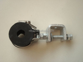 "1 5/8"" galvanized waveguide cable clamp"