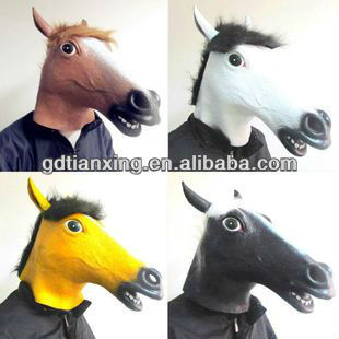 Original New Party Popual Brown Horse Latex Mask Horse Mask Cheap Party Masks Creepy New Style