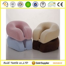 Customized Colour Cheap U-shape Memoy Pillow Travel Airplane Pillow With Button