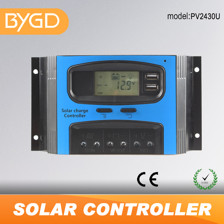 BYGD 12V 24V 20A 30A 40A <strong>charge</strong> <strong>controller</strong> solar with USB