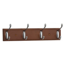 Decorative Metal Wood Wall Mount Key Rack Coat Hat Clothes Hook Rack with Heavy Duty Hanger Hook