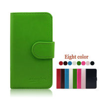 High Quality Round Buckle PU Wallet Leather Stand Case for samsung ATIV S NEO/SPH-I800