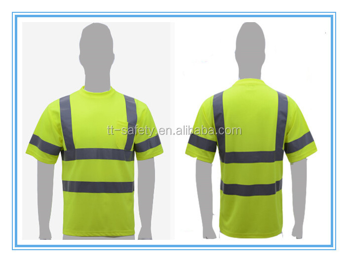 China Yellow Safety Reflective Short Sleeve High