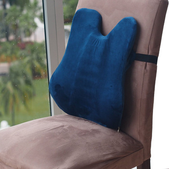 Lumbar Support Cushion for Office Chair by Easy Posture Memory Foam Back Support for Chairs