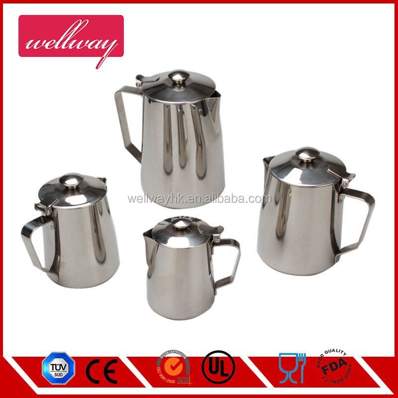 4pcs Coffee Parts Stainless Steel Milk Jug/frother jug with lid