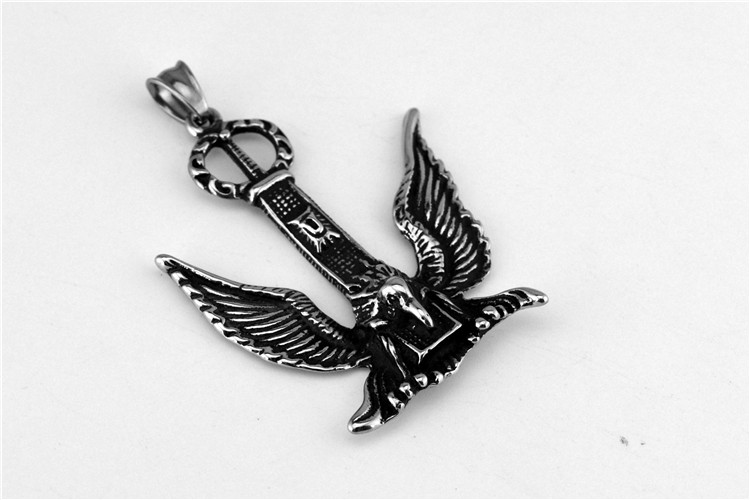 German marks the eagle necklace restoring ancient ways titanium steel casting crown pendant foreign trade jewelry for men