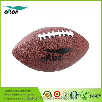 Wholeselling high quality best price leather American Football ball
