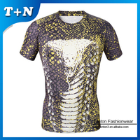Wholesale High Quality Custom Design Fitness Mens Gym Sports Compression Tee Shirts