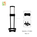 outside trolley handle system with wheel base telescopic feet for luggage bag