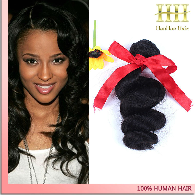 10 26 Inches Natural Color Loose Wave Human Hair Weave Virgin