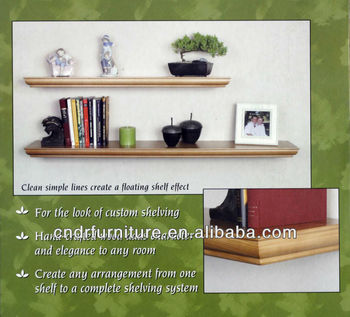 solid wood wall shelf