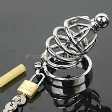 Stainless steel Cock Cage Male Chastity belt For Man Metal Bondage Bdsm Cock Ring Toys