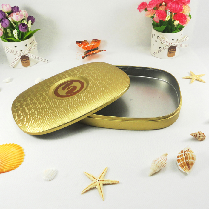 Custom fancy special shape chocolate tin box