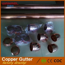 Factory Supply Different Size Different Type Pure Copper Rain Gutter and Fitting and Rain Chain