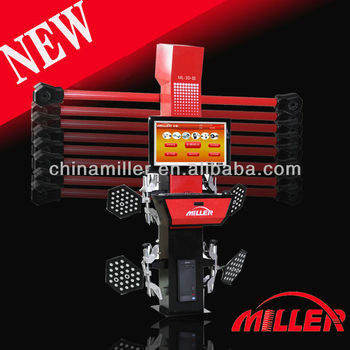 MILLER best seller high accuracy tire shop 3d wheel aligner with good wheel alignment clamps for sale(ML-3D-III)