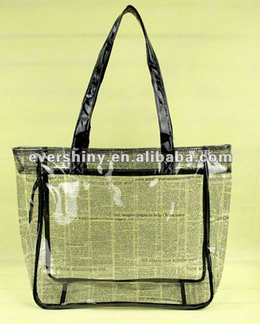 2012 new arrival plastic beach bags clear with large space
