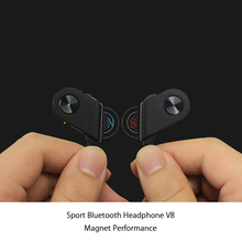 Mini lightweight sport earbuds spy earpiece bluetooth handfree headphones V8 newest V4.1 chipset with magnetic design