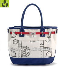2013 new procuct fashion ladies canvas hand bags