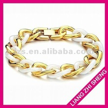 hot sale gold or white two tone non magnetic bracelet