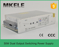 D-50A mingwei ac dc 5v 12volt switching power supply 5v 12v dual output ac dc converter external switching power supply