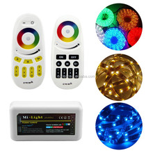 2.4G RF wireless RGB led strip DC12-24V 4 zone full touch rf remote control wifi dimmer Mi.light 5 key RF remote led controller