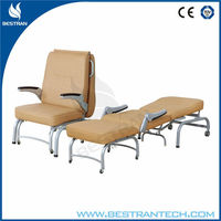 HOT SALE!!! BT-CN005 Comfortable and space-saving Hospital Accompanying folding couch bed