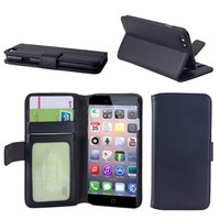 Landscape Wallet Phone Case For iPhone 6 With 3 Card Slots