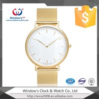 men and women gold plated wrist watch