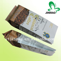 China supplier stand up plastic packaging/aluminum foil side gusseted coffee packaging