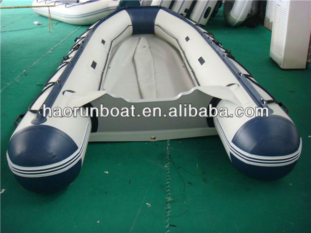 CE 3.8m PVC V bottom aluminium floor inflatable fishing boating