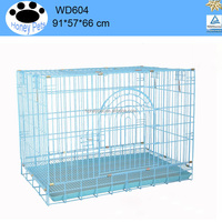 Collapsible dog cage Crates Kennel Pet Cat Metal Folding metal dog car crate