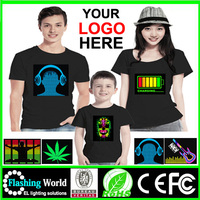 customerized christmas kids led t-shirts By Flashing company
