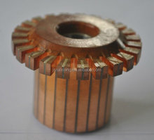 commutator groove type crown slot type step type commutation used on DC motor starter