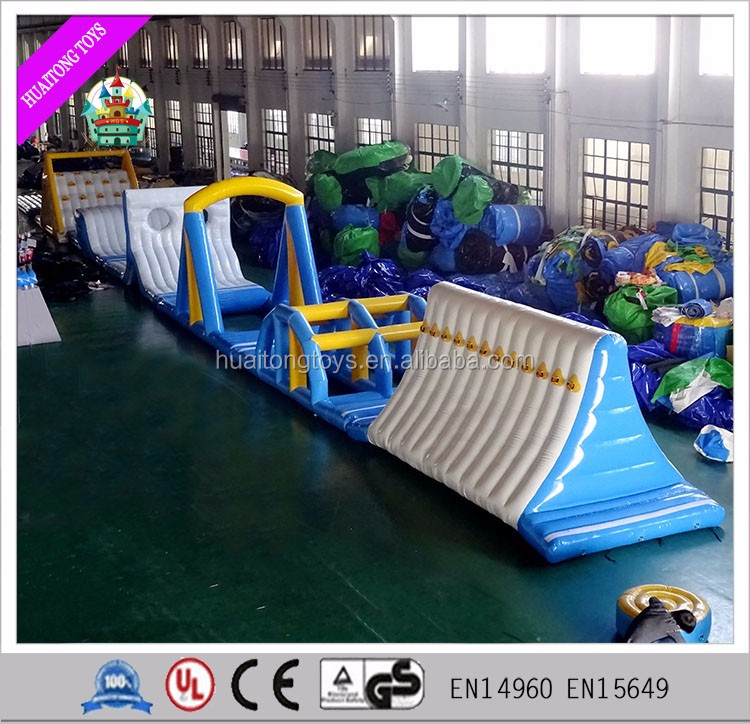 Huaitong 0.9mm Customized inflatable sea water park games commercial water toys for kids and adults