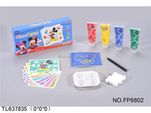 4 color finger drawing toy set for kids educational ,Non TOXIc, wash easy