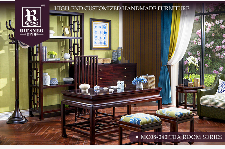 New Oriental Home Furniture set Tea Room furniture set / Leisure Area soild wooden furniture set