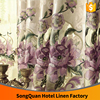 2016 China supplies European gorgeous water-soluble jacquard flora embroidery window curtain