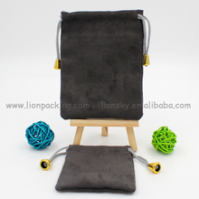 Black velvet gift bags pouch/gift wrapping pouch/custom suede jewelry pouch