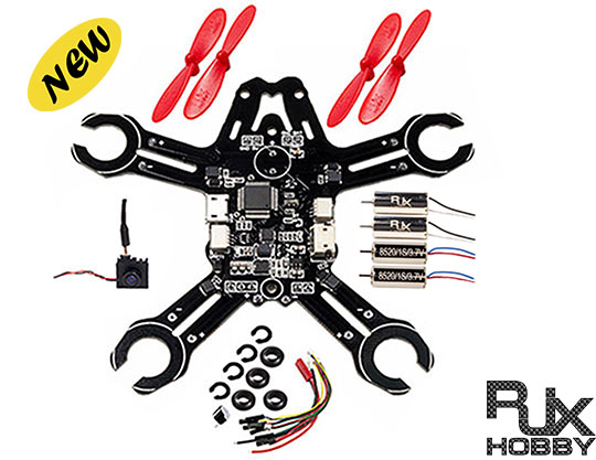 RJX hot sale fpv 95mm micro remote control drone diy kit