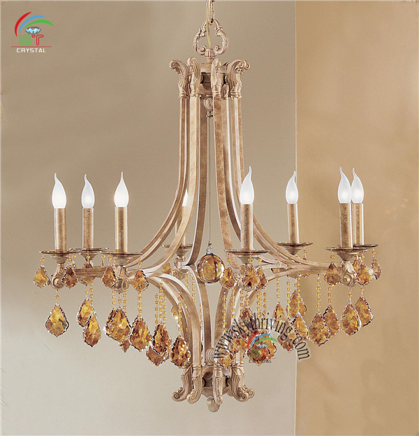 Chandelier Crystal Hanging Candle Lamp Modern Classic