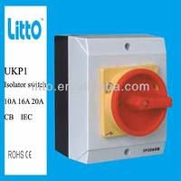 IP66 10A to 100A 4 Pole 3 Position Rotary Switch has approved CB IEC certificate
