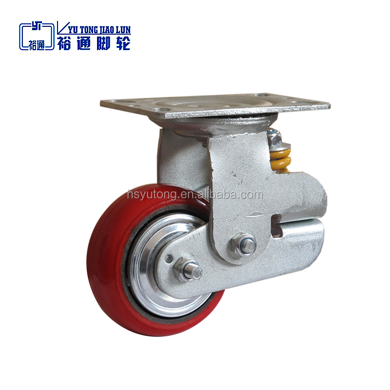 Factory supply 5, 6, inches spring Shock absorption caster wheel