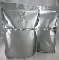aluminum foil vacuum packing bags with coffee bags air valve