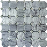 modern house building materials aluminium hexagon mosaic tile Wholesale price for mosaic tiles