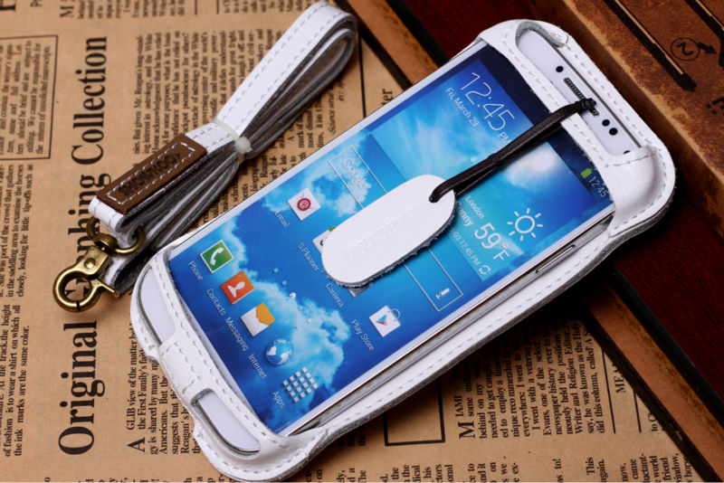 Showkoo Genuine Leather Cell Phone accessories 3d cell phone case for Samsung S4