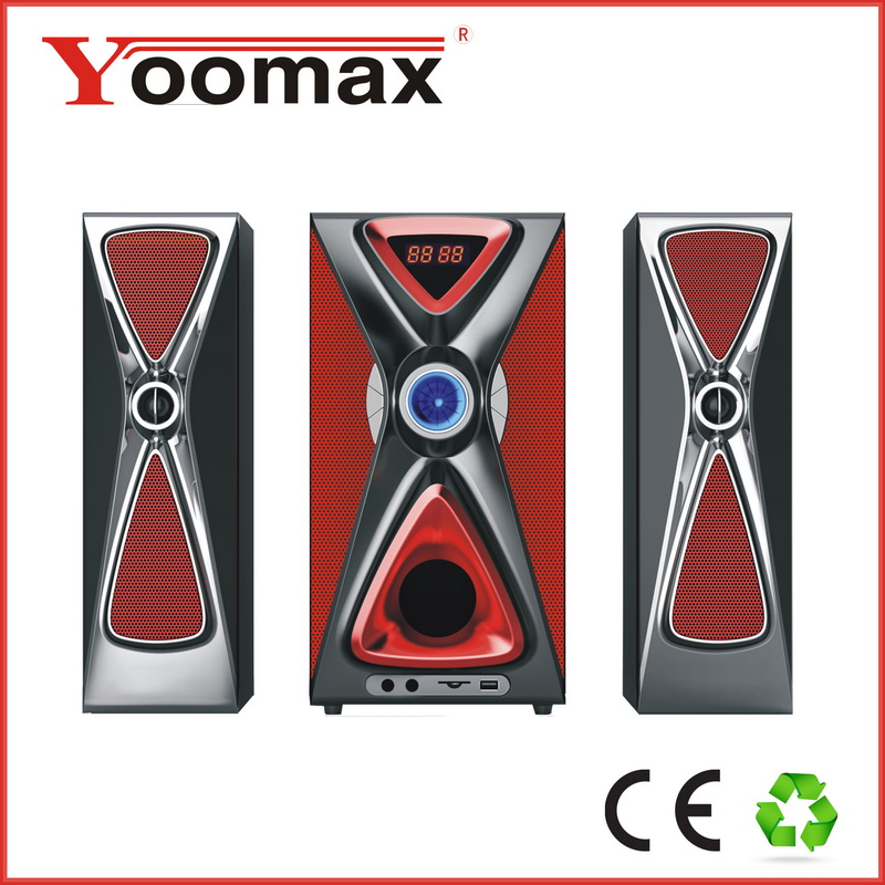2016 Hi-fi super woofer home max professional sound bass rohs music bluetooth wireless 2.1 subwoofer speaker with led light