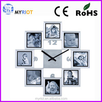Plastic 40 cm 16 inch large photo frame wall clock